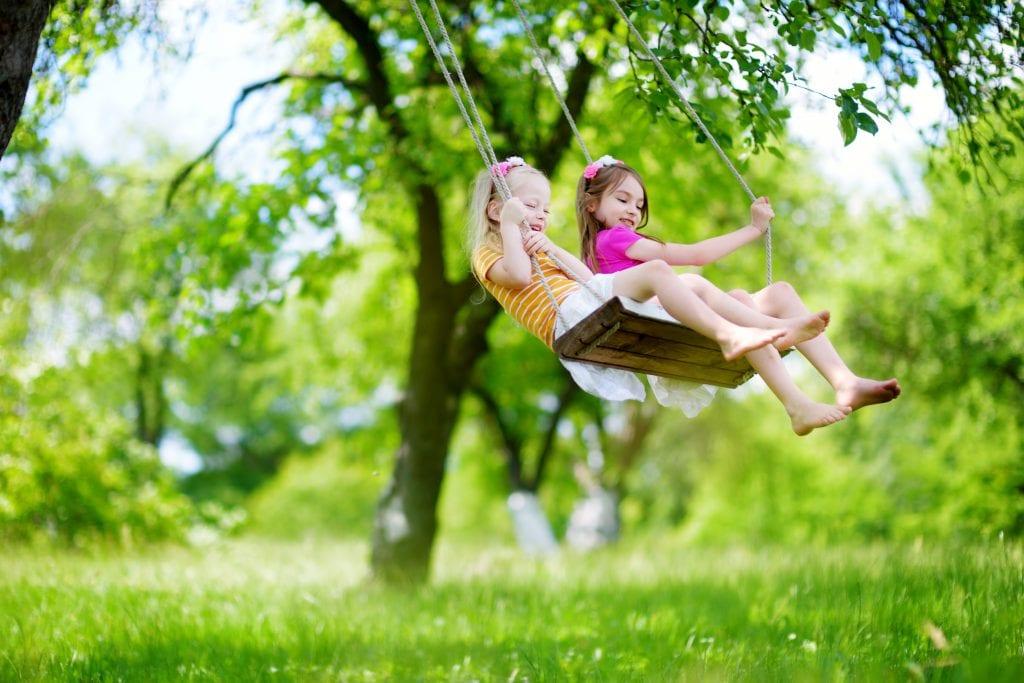 Backyard Activities Swinging Ryan Lawn